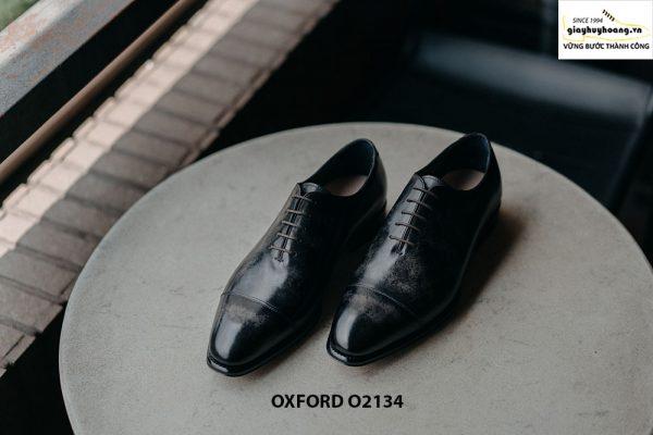 Giày tây nam thủ công da bê mịn đẹp Oxford O2134 001