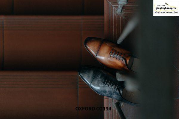 Giày tây nam thủ công da bê mịn đẹp Oxford O2134 005