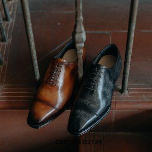 Giày tây nam thủ công da bê mịn đẹp Oxford O2134 004
