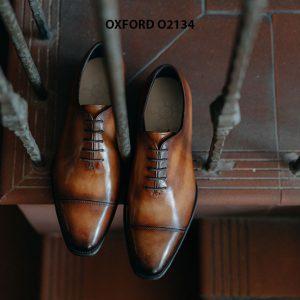 Giày tây nam thủ công da bê mịn đẹp Oxford O2134 003