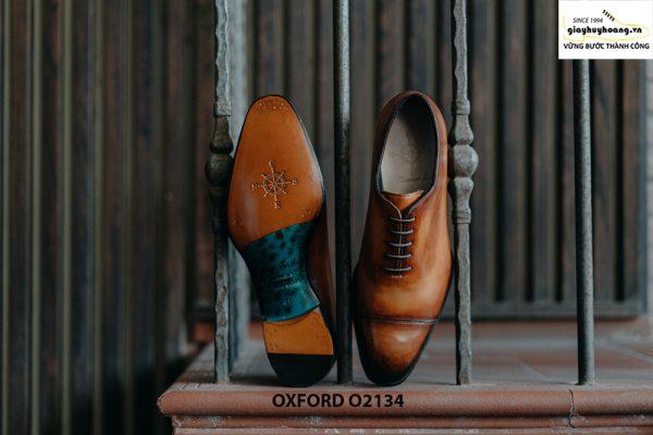 Giày tây nam thủ công da bê mịn đẹp Oxford O2134 002