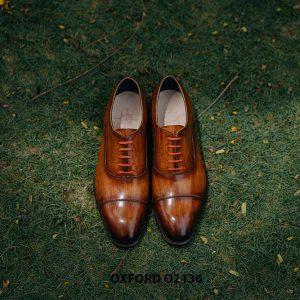 Giày tây nam được đánh màu thủ công Oxford O2136 008