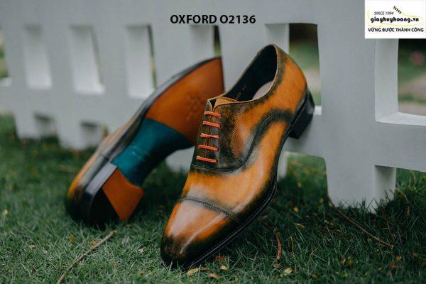 Giày tây nam được đánh màu thủ công Oxford O2136 006