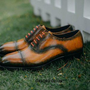 Giày tây nam được đánh màu thủ công Oxford O2136 005