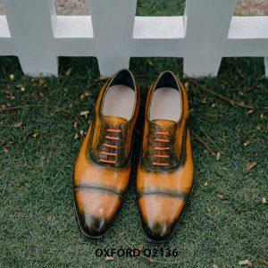 Giày tây nam được đánh màu thủ công Oxford O2136 004