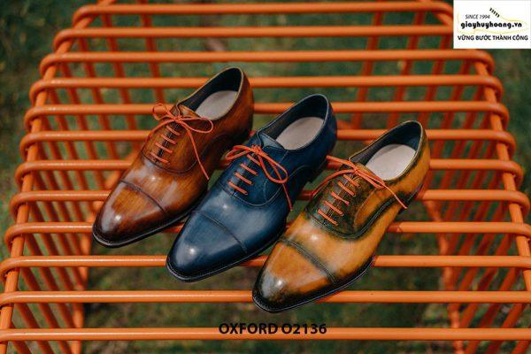 Giày tây nam được đánh màu thủ công Oxford O2136 001