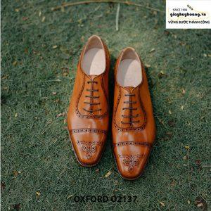 Giày tây nam khâu đế bền bỉ Oxford O2137 001a