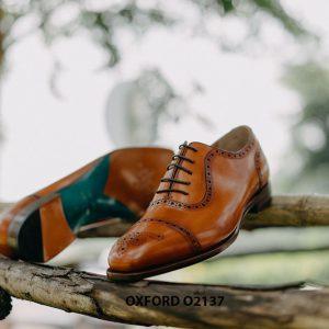 Giày tây nam khâu đế bền bỉ Oxford O2137 003
