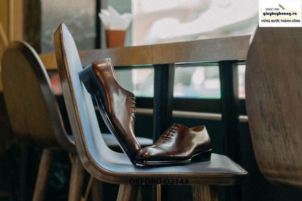 Giày da nam liền 1 miếng nghệ thuật Oxford O2143 001