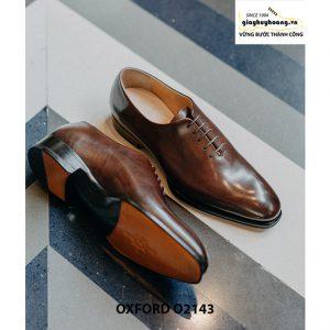 Giày da nam liền 1 miếng nghệ thuật Oxford O2143 004