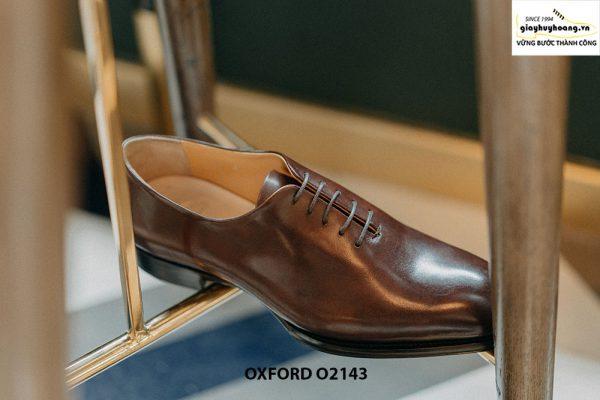 Giày da nam liền 1 miếng nghệ thuật Oxford O2143 003
