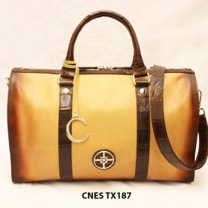 Túi xách du lịch da bò cho nữ cao cấp CNES TX187 001