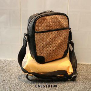 Túi xách da nữ đeo chéo da đan phong cách CNES TX190 002
