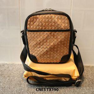 Túi xách da nữ đeo chéo da đan phong cách CNES TX190 001