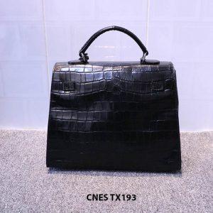 Túi xách cho nữ da bò vân cá sấu CNES TX193 003