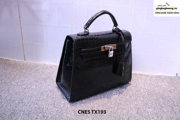 Túi xách cho nữ da bò vân cá sấu CNES TX193 002