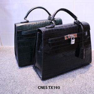 Túi xách cho nữ da bò vân cá sấu CNES TX193 001