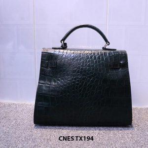 Túi xách cho nữ da bò vân cá sấu CNES TX193 004