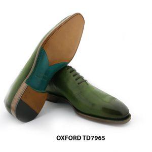 [Outlet Size 44] Giày da nam màu xanh lá Oxford TD7965 006