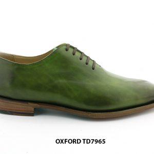 [Outlet Size 44] Giày da nam màu xanh lá Oxford TD7965 001