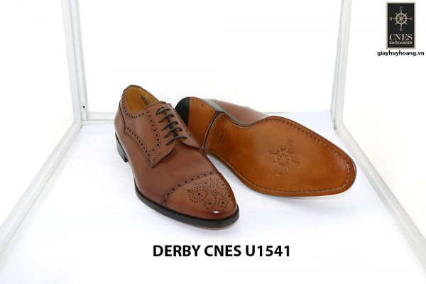 [Outlet Size 40] Giày da nam thủ công cao cấp Derby U1541 004