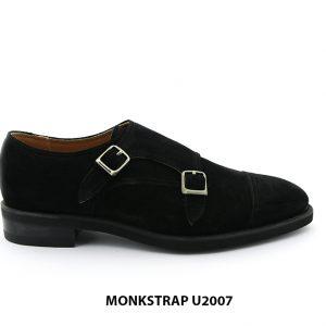 [Outlet Size 39] Giày da nam da lộn có khoá Monkstrap U2007 001