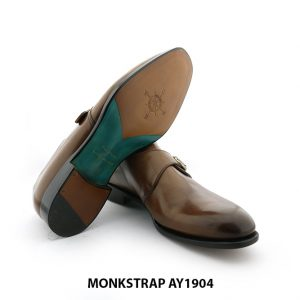 [Outlet Size 40] Giày da nam đế da Monkstrap AY1904 006