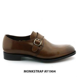 [Outlet Size 40] Giày da nam đế da Monkstrap AY1904 001