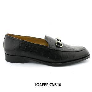 [Outlet] Giày lười nam da bò vân cá sấu loafer CNS10 001