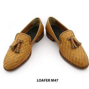 [Outlet Size 41+39+43] Giày lười nam da đan thoáng mát Loafer M47 006