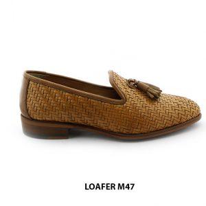 [Outlet Size 41+39+43] Giày lười nam da đan thoáng mát Loafer M47 001