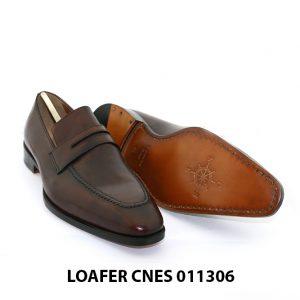 [Outlet Size 40] Giày lười nam màu nâu Loafer 11306 003