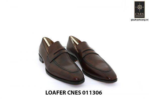[Outlet Size 40] Giày lười nam màu nâu Loafer 11306 001