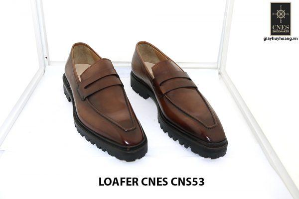 [Outlet Size 43+45+46] Giày lười nam đế cao Penny Loafer CNS53 005