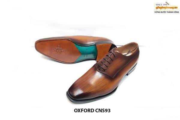 [Outlet Size 42+46] Giày da nam formd dáng đẹp Oxford CNS93 001