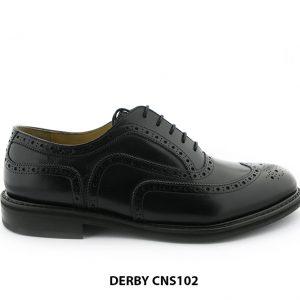 [Outlet size 45] Giày da nam đế cao su Oxford Wingtip CNS102 001