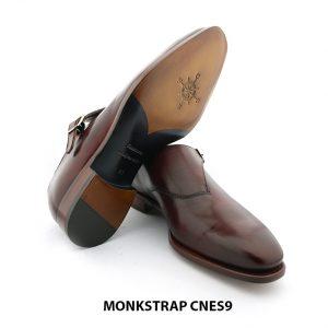 [Outlet Size 41] Giày da nam cao cấp đế da Monkstrap CNES9 006