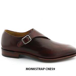 [Outlet Size 41] Giày da nam cao cấp đế da Monkstrap CNES9 001