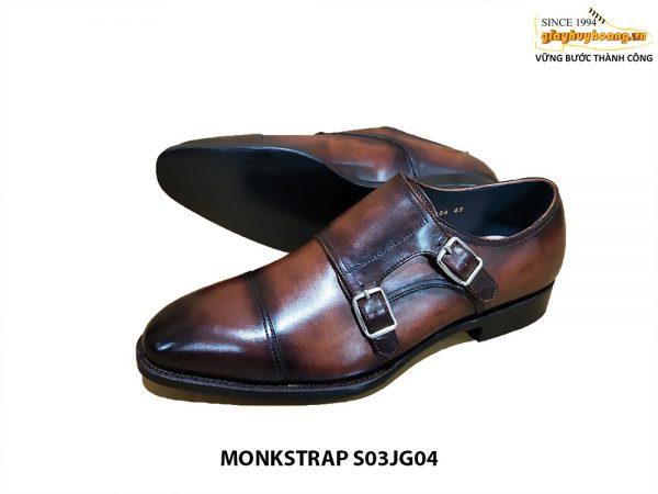 [Outlet Size 42] Giày da nam công sở Monkstrap S03JG04