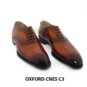 [Outlet size 43] Giày tây nam mũi trơn cao cấp Oxford C3 001