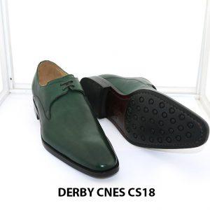[Outlet Size 41] Giày tây nam màu xanh lá Derby CNS18 003