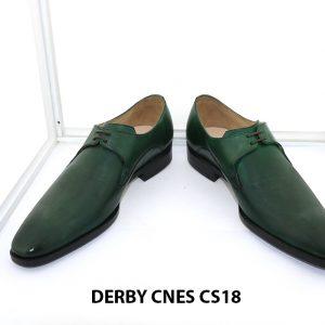 [Outlet Size 41] Giày tây nam màu xanh lá Derby CNS18 002