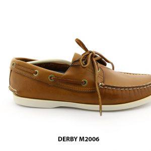[Outlet] Giày da nam Derby đế bằng thoải mái M2006 001