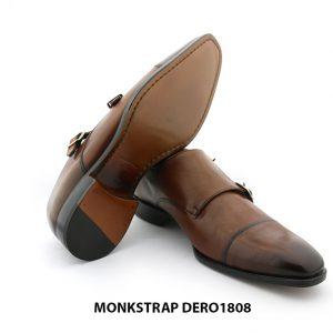 [Outlet size 41] Giày da nam hai khoá double Monkstrap DERO1808 005