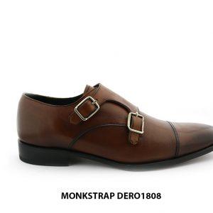 [Outlet size 41] Giày da nam hai khoá double Monkstrap DERO1808 001