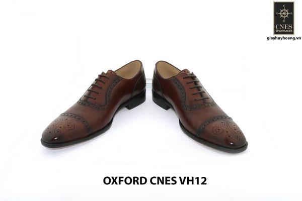 [Outlet Size 39+40] Giày tây nam buộc dây đục lỗ captoe Oxford VH12 003