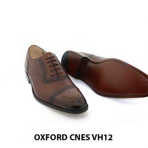 [Outlet Size 39+40] Giày tây nam buộc dây đục lỗ captoe Oxford VH12 002