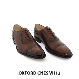 [Outlet Size 39+40] Giày tây nam buộc dây đục lỗ captoe Oxford VH12 001